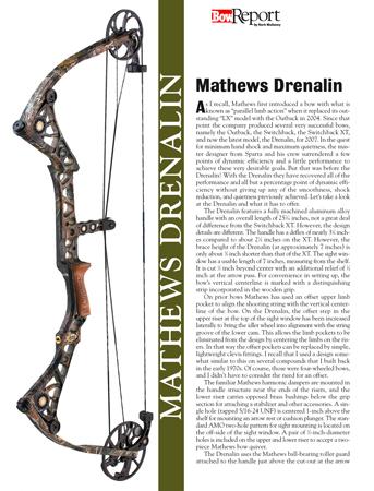Mathews Drenalin Bow Report