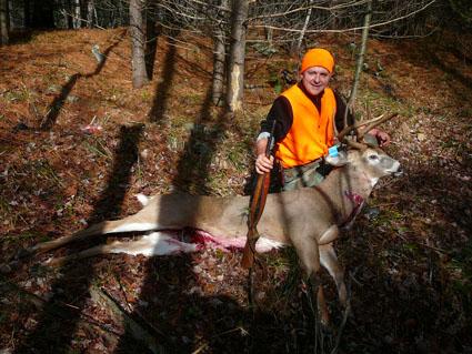 running deer hunting