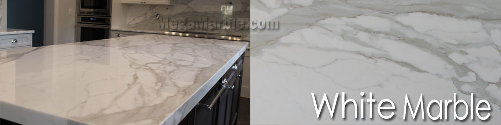White Marble Slabs For Countertop