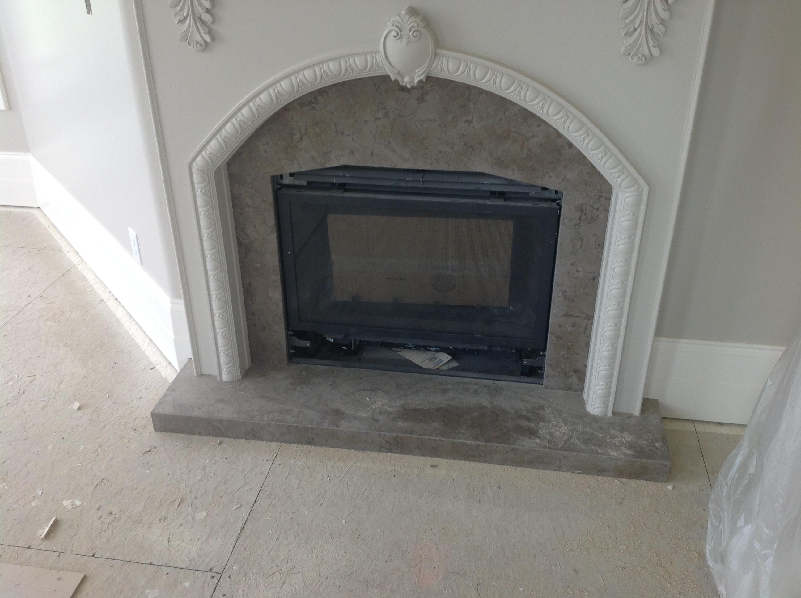 Limestone Fireplace Limestone Fireplace Granite