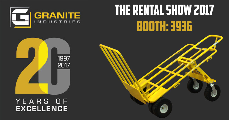Granite Industries Celebrates 20 Years at The Rental Show 2017!