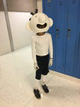 A student attended the event in Greg Heffley costume.