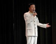 Photo of Beijing singer at Spring Lane Elementary