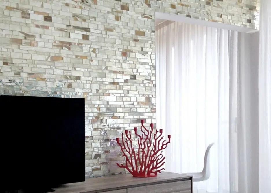 tile accent walls granite