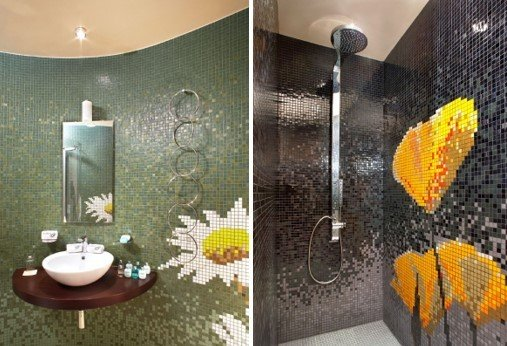 inspiring bathroom tile ideas using