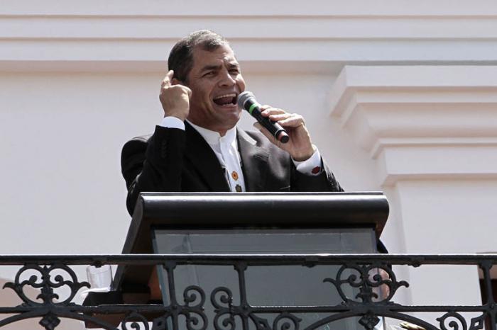 El presidente Rafael Correa reta a la oposición ecuatoriana