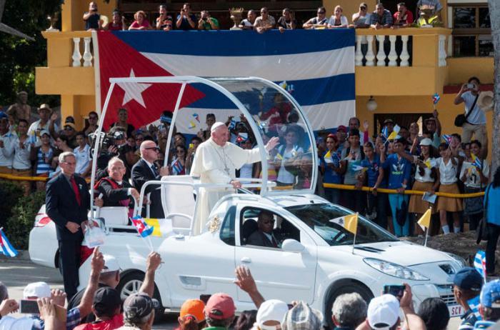 El Papa Francisco es el primer Sumo Pontífice en visitar Holguín. Foto: Roberto Suárez.