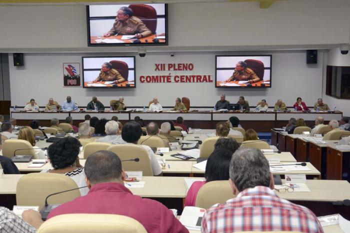 Pleno del Comité Central del Partido, el 26 de diciembre del 2015
