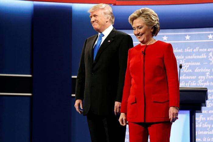Debate entre Clinton Y Trump