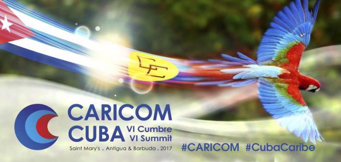 La vi Cumbre Caricom-Cuba coincide con el aniversario 15  del mecanismo que tuvo su primera cita en  La Habana en el 2002. cartel: MINREX
