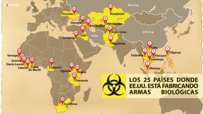 25 países donde Estados Unidos está fabricando armas biológicas