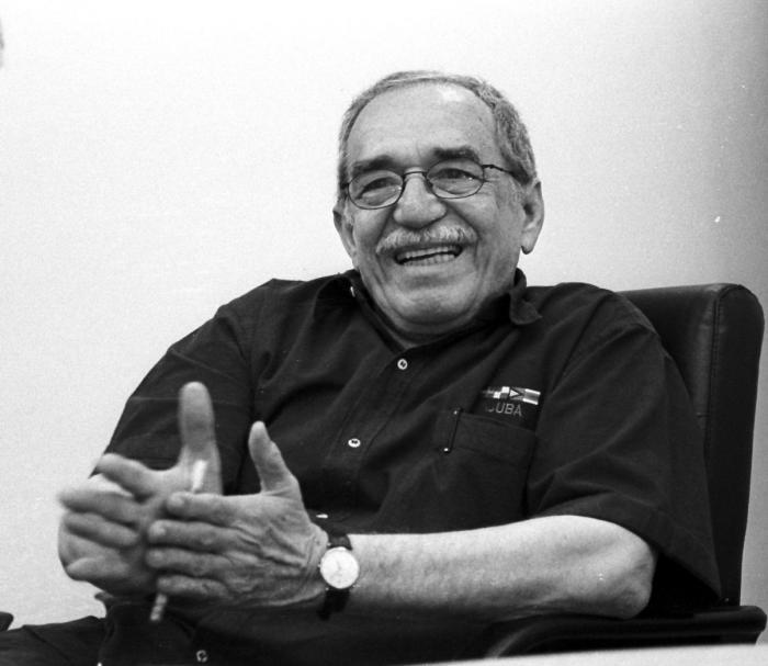 Visita de Gabriel García Márquez Premio nobel de literatura a Granma Internacional (foto Ricardo Lopez Hevia) Marq0015