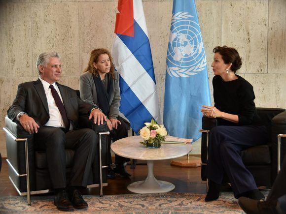 Díaz-Canel en la UNESCO, 1 de noviembre de 2018.