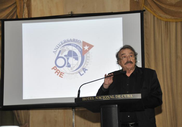 60 Aniversario de la Opèracion Verdad y la Fundacion de Prensa Latina,interveción de Ignacio Ramonet,periodista,escritor y analista politico español.