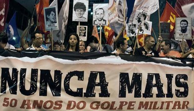Bolsonaro niega toda esa memoria histórica y autorizó a los cuarteles a realizar las «conmemoraciones debidas» de los 55 años del golpe militar. Foto: Internet