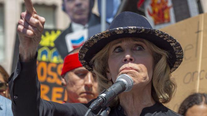 Actriz estadounidense Jane Fonda