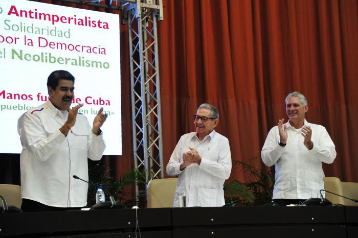 Clausura del Encuentro antimperialista de solidaridad,