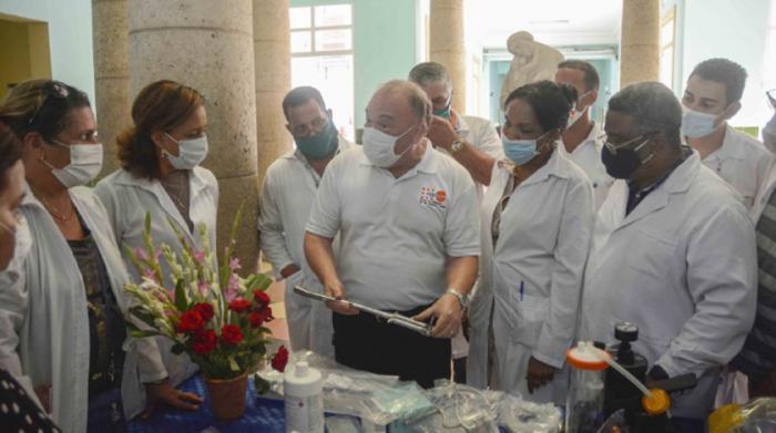 Rafael Cuestas, coordinador internacional del FPNU en Cuba, expresó el compromiso del programa para apoyar al MINSAP en sus esfuerzos por reducir la mortalidad infantil en tiempos de COVID-19