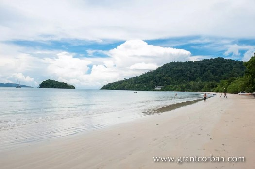 view of the beach at the datai Langkawi