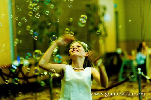 Wedding dinner ideas bubbles