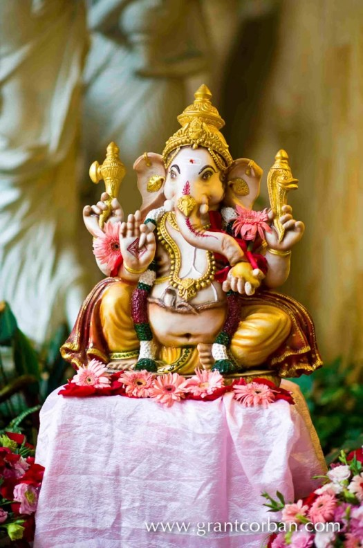 Indian Hindu wedding elephant ganesh decor