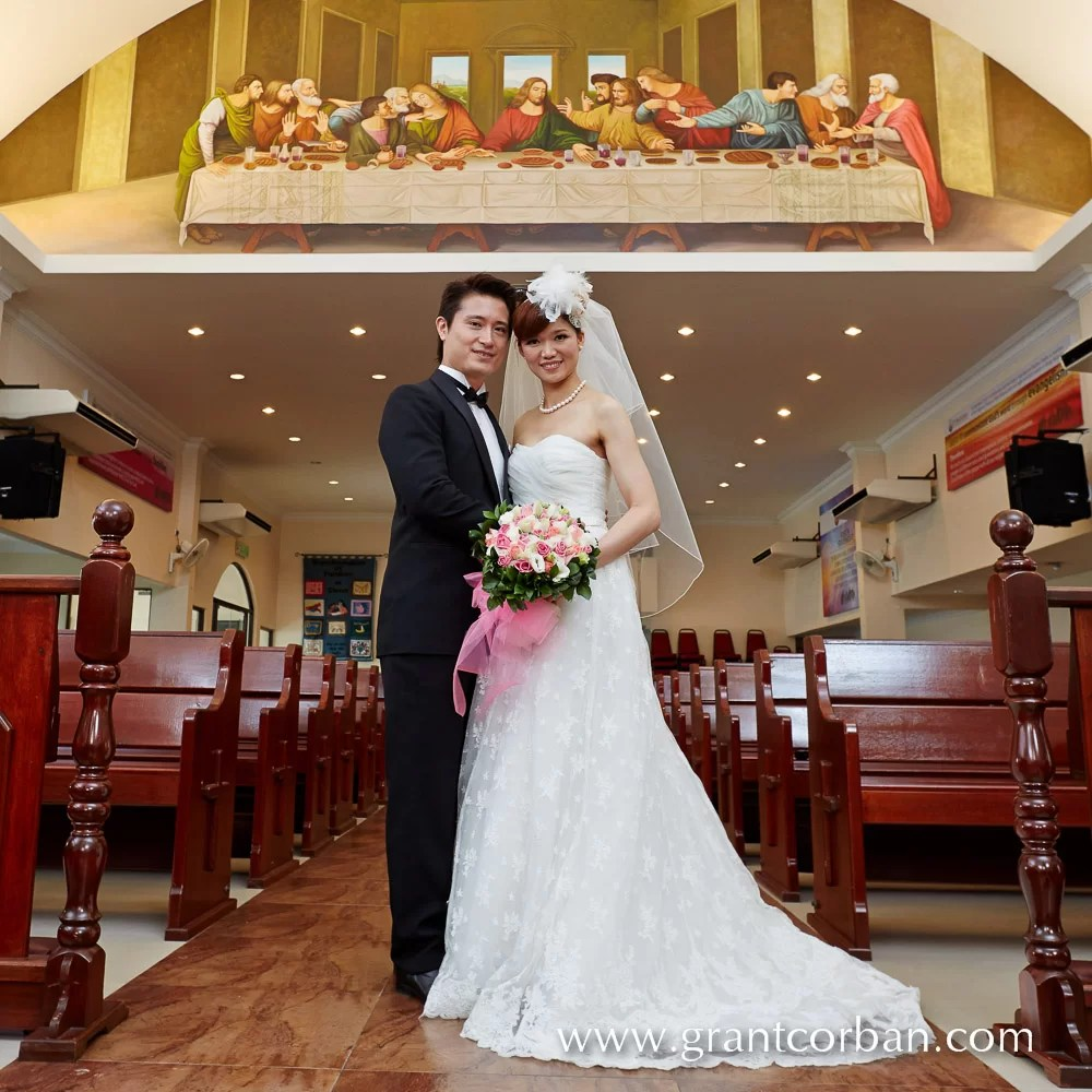 Smallest Wedding Ever In St Barnabas Church Klang Grant