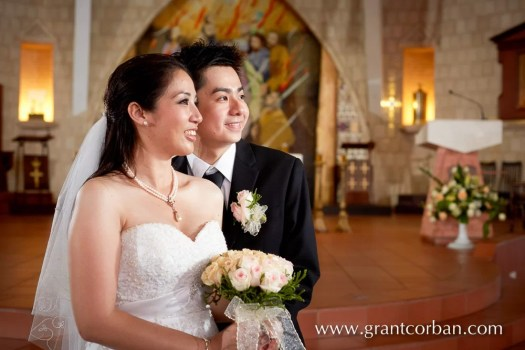 wedding portrait at the church of the holy spirit greenlane penang