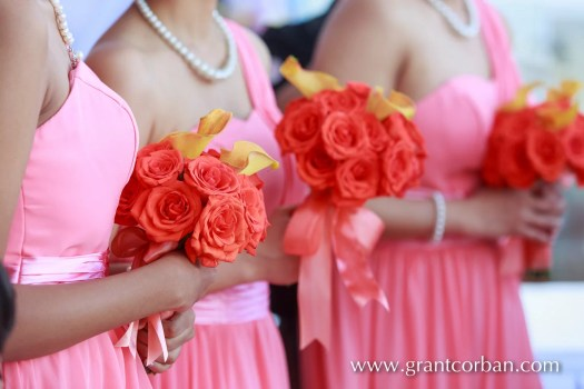 Bridesmaids bouquets Menara KL wedding