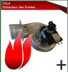 PIÈCES COLA EXTRACTEUR FUMEES