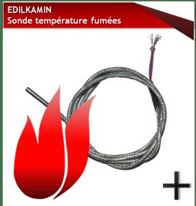 PIèCES EDILKAMIN SONDE-TEMPERATURE-FUMEES-EDILKAMIN