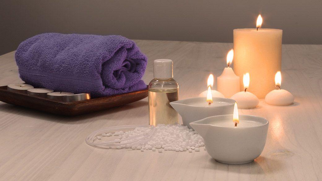 Velas de masaje corporal