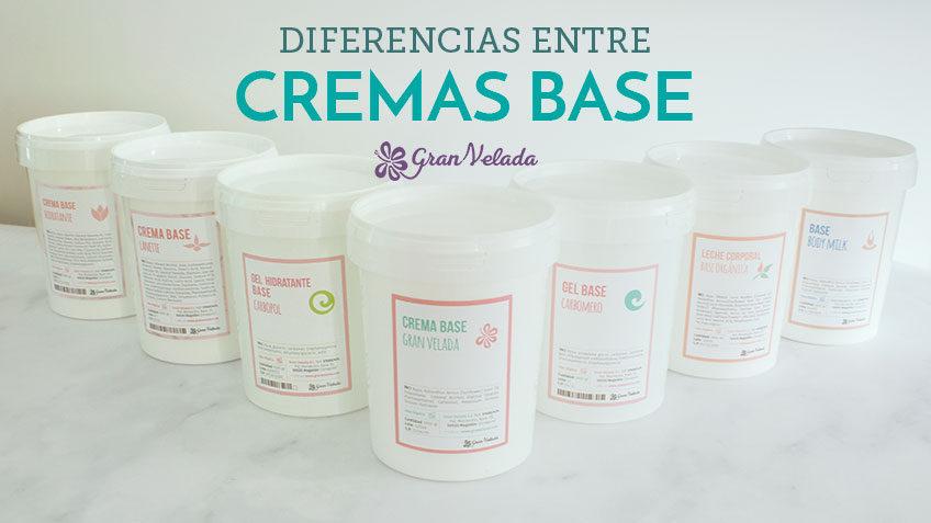 Diferencias entre las cremas base