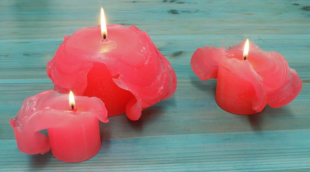 hacer velas de flor de loto