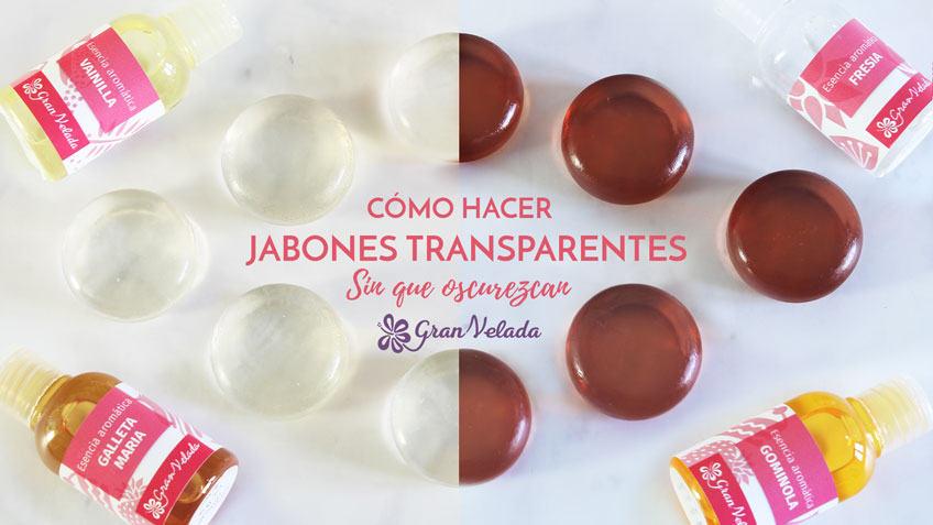 Como hacer jabones  trasparentes