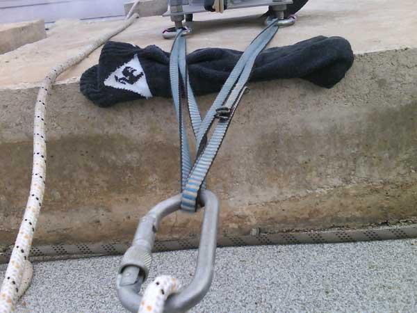 Protector de cuerda, casero