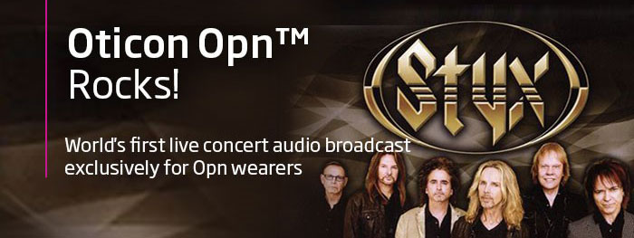 Oticon Opn is partnering with Styx for the first live concert audio broadcast for Opn wearers