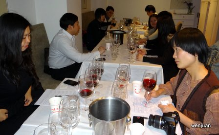 The red wine judges get tasting..