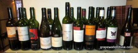 Some of the red wines....