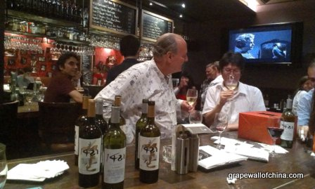 1421 wine tasting at scarlett wine bar hotel g beijing china with randy svendsen