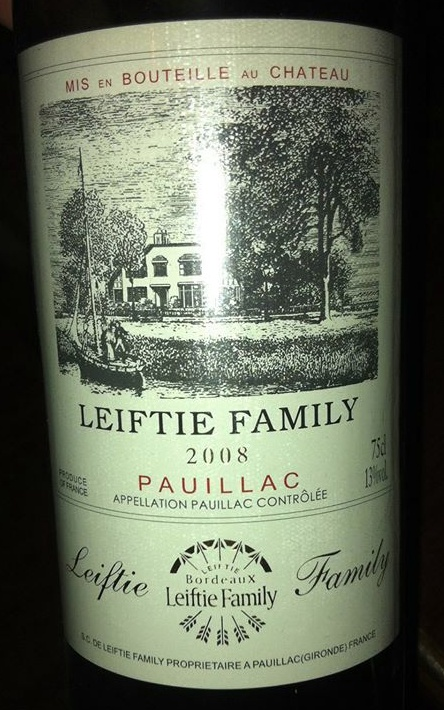 fake wine leiftie