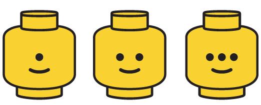 Tête de lego / Lego face