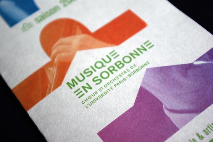 détail de la couverture du programme de la saison 09/10 de Musique en Sorbonne