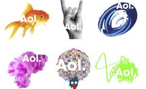 Les nouveaux logos d'AOL