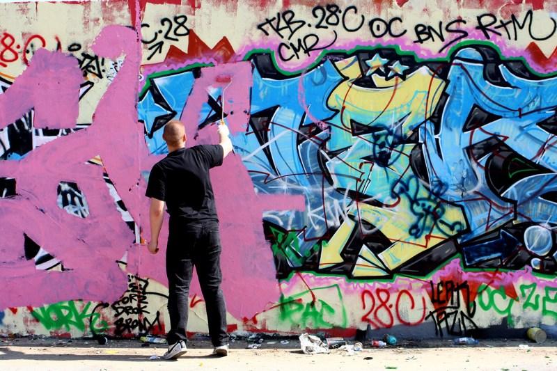 Mur de Berlin, une toile d'artiste géante