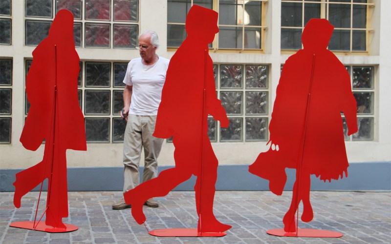 Silhouette vectorielle Gérard Fromanger