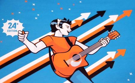 Illustration musique guitare festival de marne