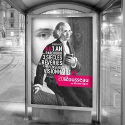 Affiche Rousseau 2012 typographique