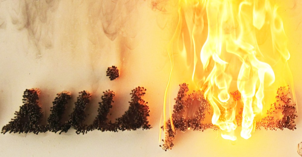 A fontdesign with match in fire