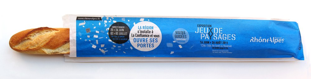 Habillage baguette de pain graphic design