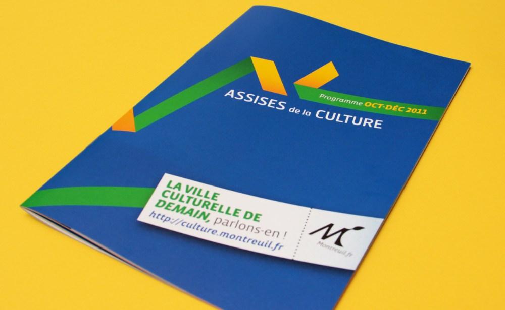 Design graphique de la plaquette des assises de la culture